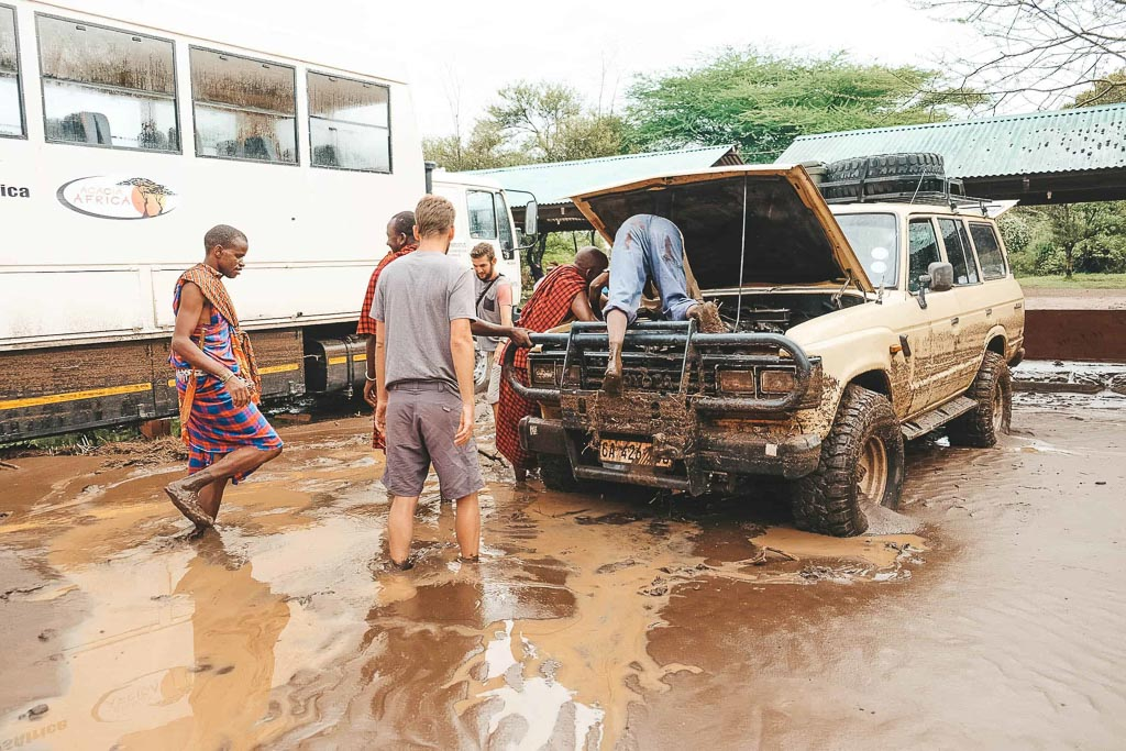 flash flood tanzania car